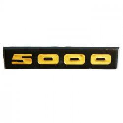 PLAQUE LOGO 5000 A COLLER POUR CAPOT MOTEUR SOLEX 5000