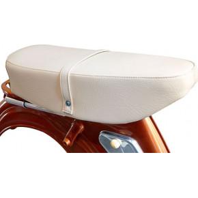 SELLE BIPLACE COMPATIBLE AVEC LES MOBYLETTES MOTOBECANE AV89, AV88 etc. : beige