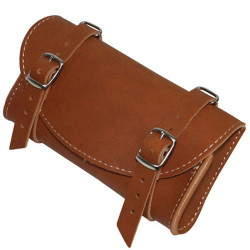 1 TROUSSE (SACOCHE) A OUTIL DE SELLE ASPECT CUIR MARRON