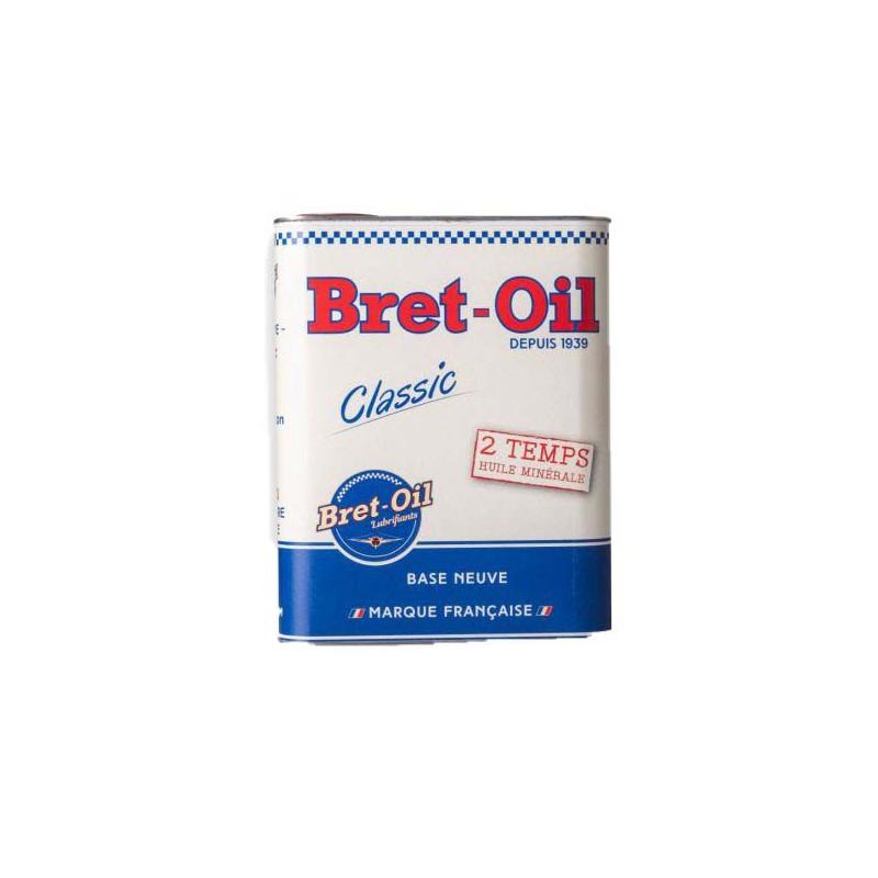 HUILE MOTEUR 2 TEMPS MINÉRALE BRET-OIL (2L) POUR MOBYLETTE MOTOBECANE PEUGEOT ETC.