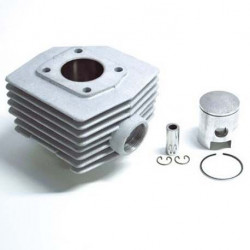 Cylindre Piston Airsal Alu MBK 51 (6 Transferts)