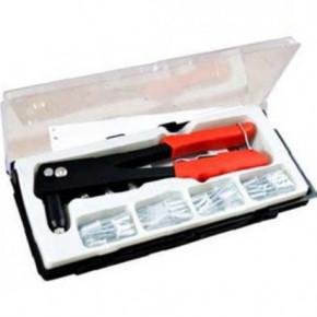 PINCE A RIVETER AVEC 60 RIVETS 4 X 16mm POUR PLAQUE IMMATRICULATION etc.