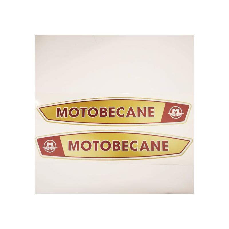 Paire Autocollants de Réservoir des Mobylette Motobecane 40 50